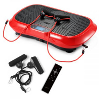200W Ultra Slim Vibration Machine Trainer Plate Platform Body Shaper Exercise w/ LCD Display - Red