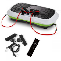 200W Vibration Machine Trainer Plate Platform Body Shaper Exercise Fitness w/ LCD Display - White & Green