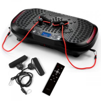 GENKI Vibration Machine Workout Plate Body Trainer Platform w/ USB Bluetooth Music Player - Black