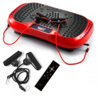 GENKI Vibration Plate Workout Platform Fitness Exercise Machine w/ USB Bluetooth Music Player - Red