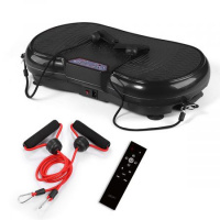 Vibration Plate Machine for Whole Body Weight Loss w/ 3 Channels - Black