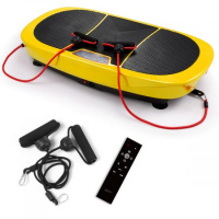 Genki Vibration Machine Plate Workout Platform 360 Degree Exercise Fitness Equipment with Remote Controller - Yellow