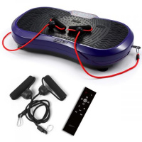 Vibration Plate Machine 120 Speeds Silent Modes 330lb Capacity - Purple