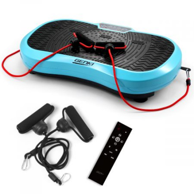 Whole Body Vibration Machine 120 Speeds Remote Controller - Light Blue