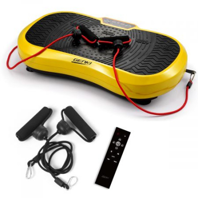 Whole Body Vibration Plate Platform Machine 200w 330lb Capacity - Yellow